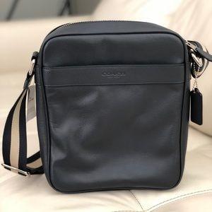 Coach Men's Flight Crossbody Bag Calf Leather
